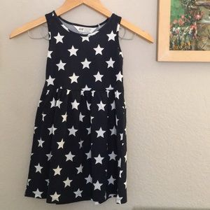 H&M Navy and White Star Print Sundress 4-6 Y